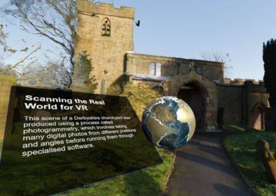 The Derbyshire churchyard on HTC Vive System